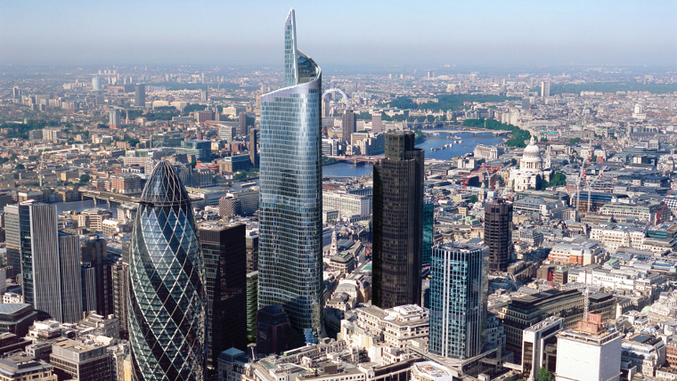 Birds eye view of 22 Bishopsgate