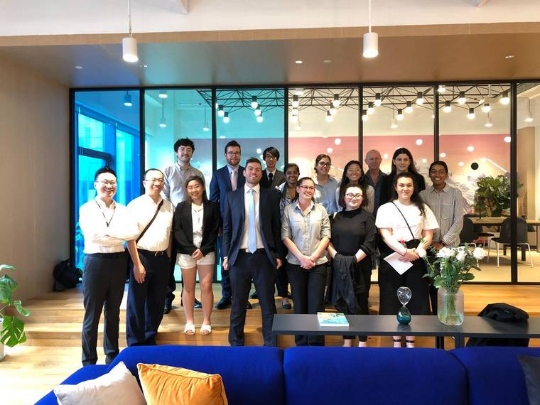 Students from Swinbourne University in Shanghai