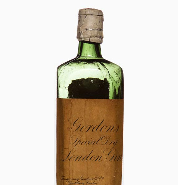 An early Gordon's gin bottle