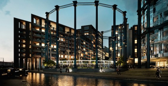 Modern architecture Gasholder kings cross regeneration